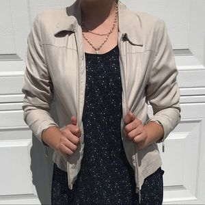 Jackets & Blazers - Military style zip up jacket with wing collar